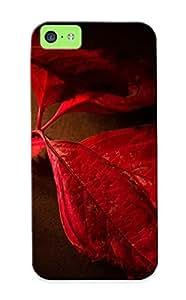 Kenirpr6500CRVpL New Premium Flip Case Cover Red Leaves Skin Case For Iphone 5c As Christmas's Gift