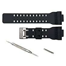16mm Watch Band Strap fit Casio G Shock GA-100 GA-300 GD-100 GA-120 GA100B GA110