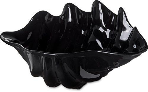 Black Plain Clam - Carlisle 034403 BPA-Free Large Plastic Clam Shell Bowl, 5 Quart, Black
