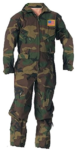 Kids Future Pilot Woodlands Camo Coverall/Flight Suit (Medium)