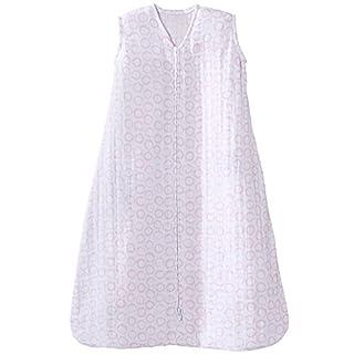 HALO 100% Cotton Muslin Sleepsack Wearable Blanket, Circles Pink, Small