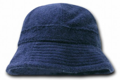 DECKY Terry Bucket Hats (One Size, Navy Blue)