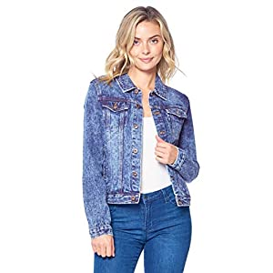 Blue Age Womens Denim Jean Jacket and Sleeveless Vest 16