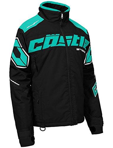Castle X Strike Women's Snowmobile Jacket - Black/Mint (2XL)