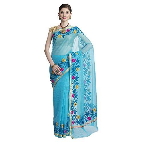Kota Doria Cotton Saree - CRAFTGHAR Women's Cotton Saree with Blouse Piece (U-07-115,Multicolor,Free Size)