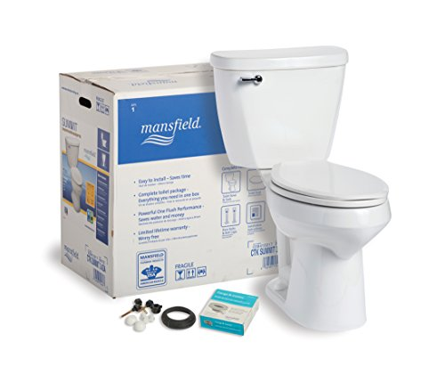 Mansfield Plumbing 384CTK Summit CTK Elongated ADA Front 1.6 GPF Complete Toilet Kit, White