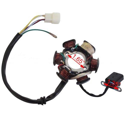 6-Coil Magneto Stator for 50 cc 70cc 90 cc 110cc 125 cc ATVs Go Karts Quad 4 Wheeler Dune Buggy
