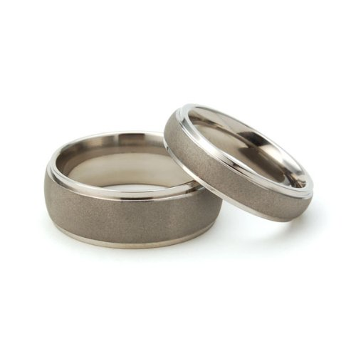 Titanium Rings For Him And Her, Matching Wedding Rings, Titanium Bands by Unknown