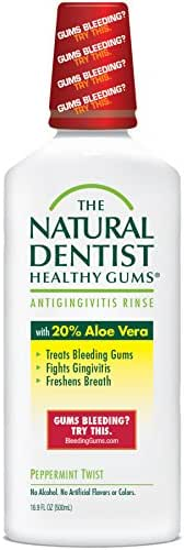 The Natural Dentist Healthy Gums Antigingivitis Rinse, Peppermint Twist, 16.9 Ounce (Pack of 3)