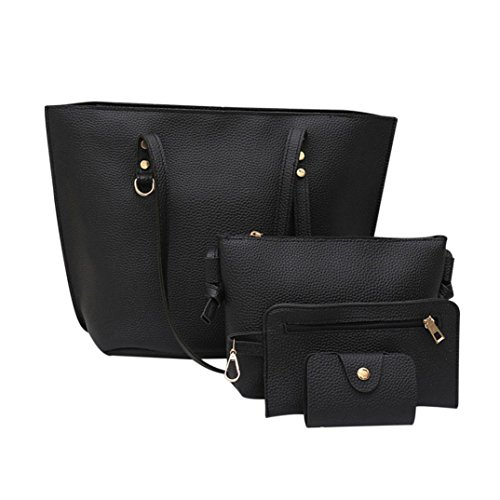 Set of 3PCS Women Large Shoulder Bag Cross-body Bags Leather Handbag Cheap for Girl by TOPUNDER B