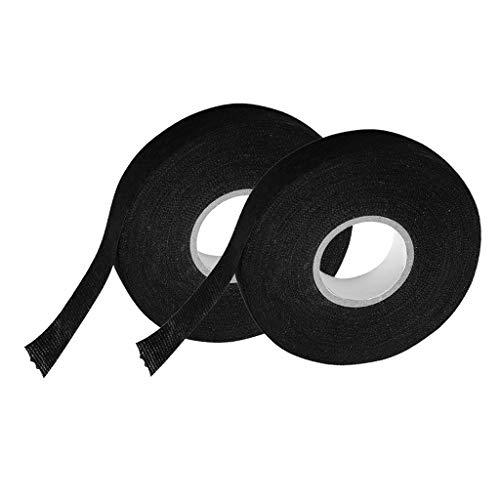KESOTO Car Auto Interior Wire Loom Harness Tape 19 mm X 25 Meters (2 Rolls):