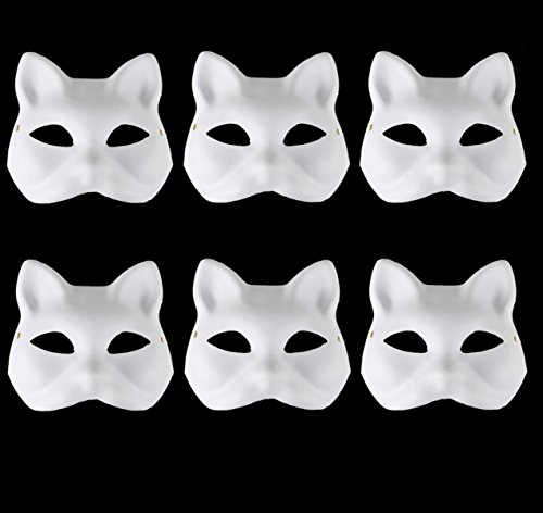 [Set of 6 Costume fancy dress cosplay tool DIY handmade mask Cat Mask] (Cat Costume For Halloween Diy)