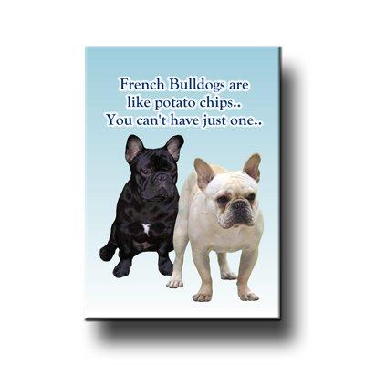 Con forma de Bulldog Francés can t Have solo un imán para nevera ...