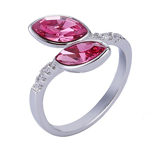 Costume From China Rings (Xuping Beautiful Cyber Monday Round Crystals from Swarovski Adjustable Rings Women Jewelry Black Friday Gifts (Rose))