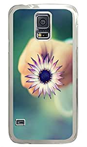 Samsung Galaxy S5 Little Flower PC Custom Samsung Galaxy S5 Case Cover Transparent