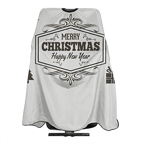 Merry Christmas Barber Salon Cape Apron for Styling Hair Cut Hairdresser Profession Barbershop Supplies -