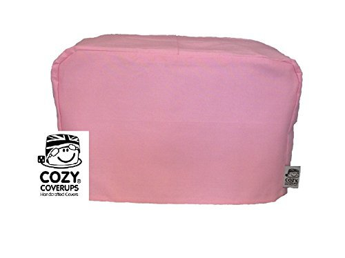 Pink Slice - CozyCoverUp toaster cover for 2 slice toaster Plain Pink 100% Cotton