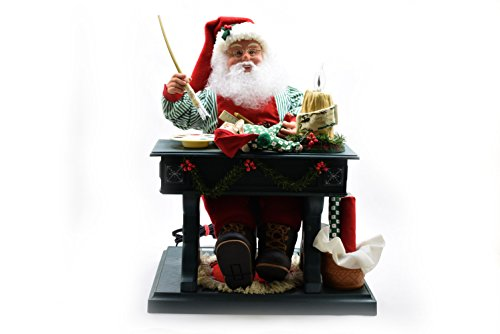 Traditions 3D Animated Musical Santa at Workshop by Candle Light (Musical Christmas Candle)