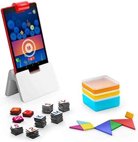 Math /& More Ages 6-10 Fire Tablet Base Included Genius Starter Kit for Fire Tablet Exclusive Osmo 7 Hands-On Learning Games for Spelling Family Game Night