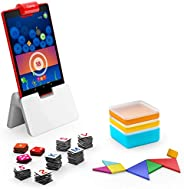 Osmo - Genius Starter Kit for Fire Tablet - 5 Educational Learning Games - Ages 6-10 - Spelling, Math, Creativ