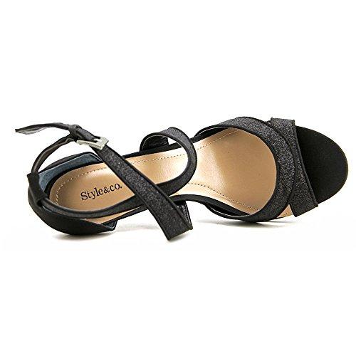 Style & Co. PRAVATI, Knoechel Riemen Sandalen Frauen, Offener Zeh, besonderer Anlass Black
