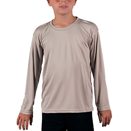 Vapor Apparel Youth UPF 50+ UV (Sun) Protection Long Sleeve Performance T-Shirt Large Athletic Grey by Vapor Apparel