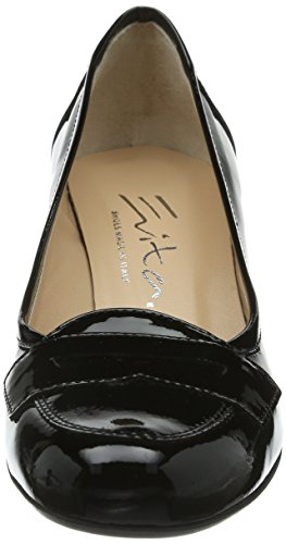 Evita vestir de geschlossen cuero para Pumps de Zapatos negro mujer Shoes negro URxXUfqr