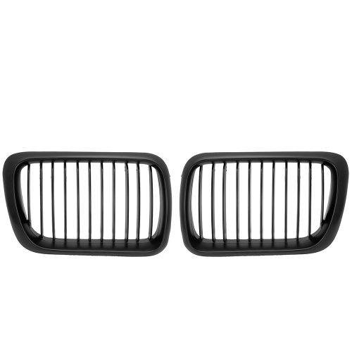 E36 Grill - Power Black Front Sport Kidney Grille Grill For 1997-1998 BMW E36 318 323 325 328 M3 97 98