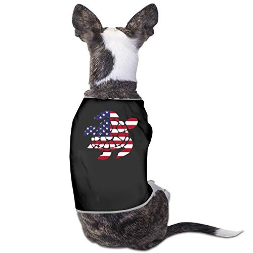 American Flag Sea Turtle Puppy Costumes Pet Sleeveless T-Shirt Jacket Sweater]()