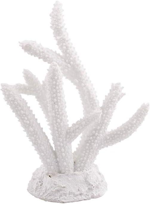 Danmu 1Pc of Polyresin Coral Ornaments, Aquarium Coral Decor for Fish Tank Aquarium Decoration 5 7/10