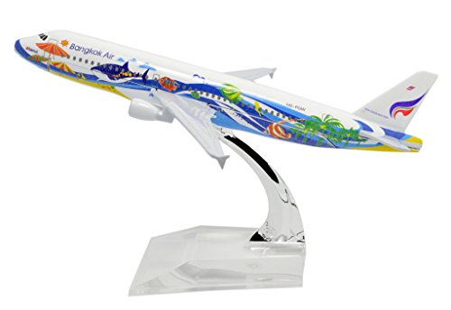 TANG DYNASTY(TM) 1:400 16cm Air Bus A320 Bangkok Air Metal Airplane Model Plane Toy Plane Model
