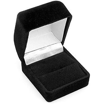 Amazon.com: Black Flocked Ring Gift Box Jewelry Display