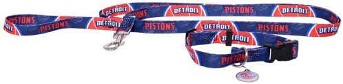 HUNTER Detroit Pistons 3pc Pet Set Dog Leash Collar ID Tag XS 41ZqoamPLiL