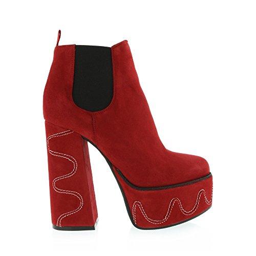 Gaimpaolo Viozzi Tira Su Dettaglio Caviglia Stivaletto Rosso