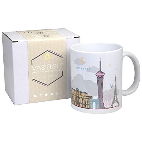 Vastigo 11 Oz. Ceramic Mug with Top Cities in America (Las Vegas)