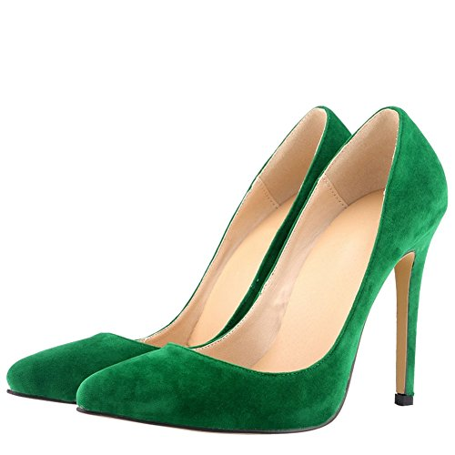 Décolleté In Velluto Con Tacco Alto Da Donna Con Multi Colori Verde