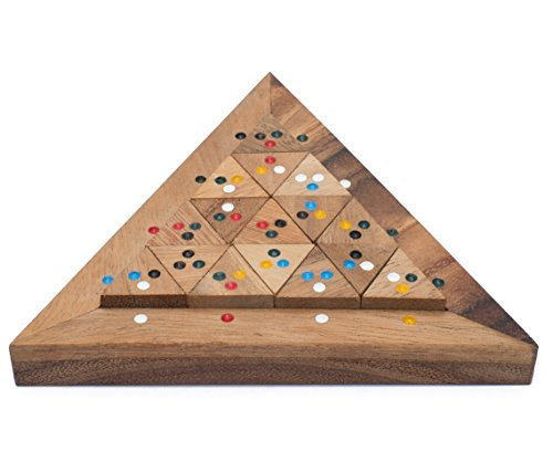 Bermuda Triangle: Handmade & Organic 3D Brain Teaser Wooden Puzzle for Adults from SiamMandalay with SM Gift Box(Pictured)