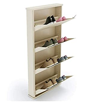 Peng Essentials Space Saver Foldable Shoes Rack Shoes Organizer Layer Shoes Stand Shelves Super Wide 4 Level Shoe Stands  4 Level 20 inch  Shoe Racks