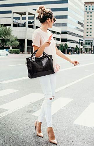 de bandolera Fekete Bolsos Shoppers mano y de DEERWORD hombro Mujer y bolsos clutches Carteras xzwxB6Sq