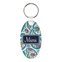 ThisWear Mimi Paisley Mimi Birthday Gifts Mimi Grandma Aluminum Oval Keychain Keytag