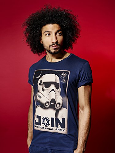 GOZOO Star Wars Classic T-Shirt Herren Join The Imperial Army Blau