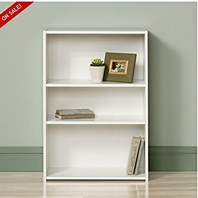 Amazon Com White Bookshelf Small 3 Shelves Modern Childens
