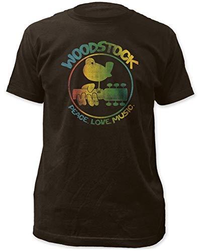 Impact Woodstock Colorful Logo Mens Tee,Coal,Large