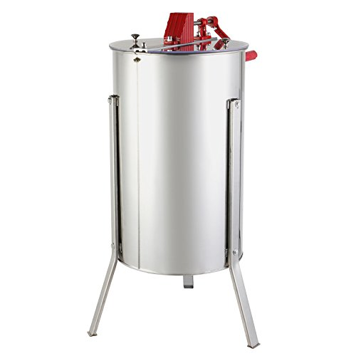 Happybuy 3XXS Stainless Steel 3 Frame Manual Honey Extractor