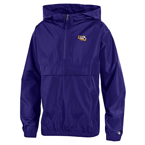 NCAA LSU Tigers Youth Boys Champion Packable Jacket, X-Large, Purple