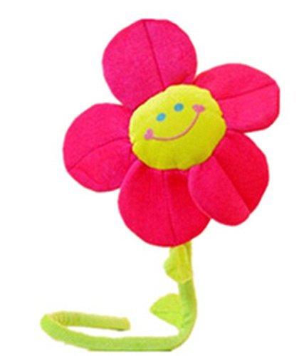 ma-on Bendable girasol flor de peluche (rosa)