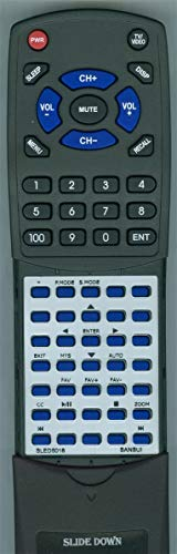 (Replacement Remote for Sansui SLED-2415, SLED-2815, SLED-3215, SLED-3915, SLED-4216, SLED-4319, SLED-5018, SLED-5019, SLED-5515, SLED-5516, SLED-6517)