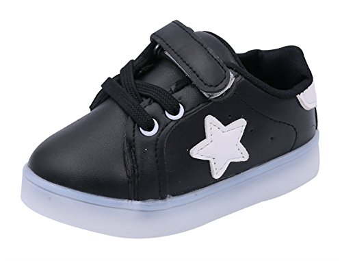 Casual Light Cherry (Children Shoes LED Light Kids Shoes with light Baby Boys Girls Lighting Sneakers Casual Children Sneakers Black Size 21)