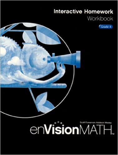 Envision Math 2009 Interactive Homework Workbook Grade 4 Scott Foresman 9780328341771 Amazon Com Books