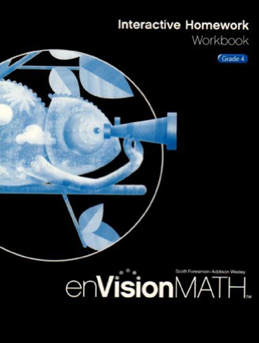 EnVision Math 2009 Interactive Homework Workbook, Grade 4